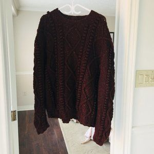 Vintage Oversized Popcorn Knit Sweater